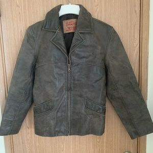 Brown Levi's leather jacket